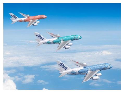 ANA- ն ընդլայնում է իր Narita-Honolulu երթուղային պարկը `նոր A380 FLYING HONU- ով