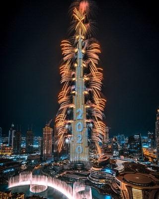 Burj Khalifa ohromí 2 miliardy lidí po celém světě výstavou NYE 2020