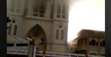 Vartegnskatedral brændt ned i Malabo, Ækvatorial Guinea