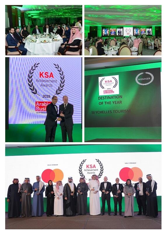 Seychelles ganha o destino do ano do KSA Arabian Business Awards