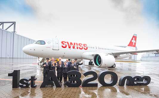 خطوط هوایی سوئیس اینترنشنال اولین ایرباس A320neo خود را تحویل می گیرد