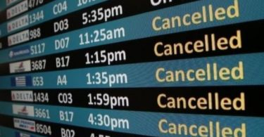Американските летища са класирани по проценти на анулиране на полети