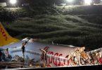 Pegasus Airlinesin kone, jossa on 177, kaatuu Istanbulin lentokentällä
