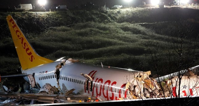 Pegasus Airlines plane with 177 on board crashes at Istanbul Airport