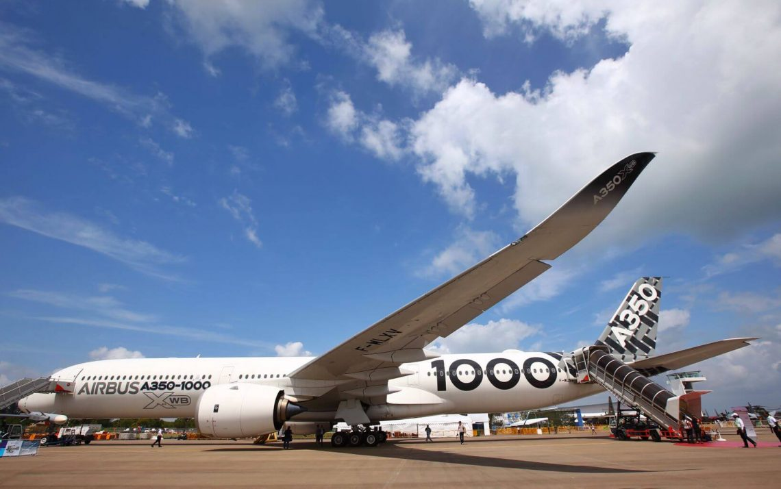 Airbus montros siajn plej novajn produktojn en Singapore Airshow 2020