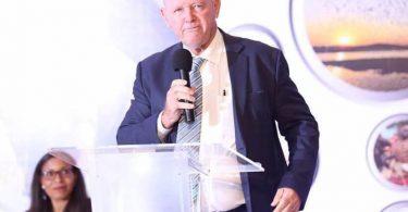 رئیس هیئت گردشگری آفریقا در مراسم افتتاحیه نمایشگاه گردشگری مروارید آفریقا در اوگاندا سخنرانی کرد