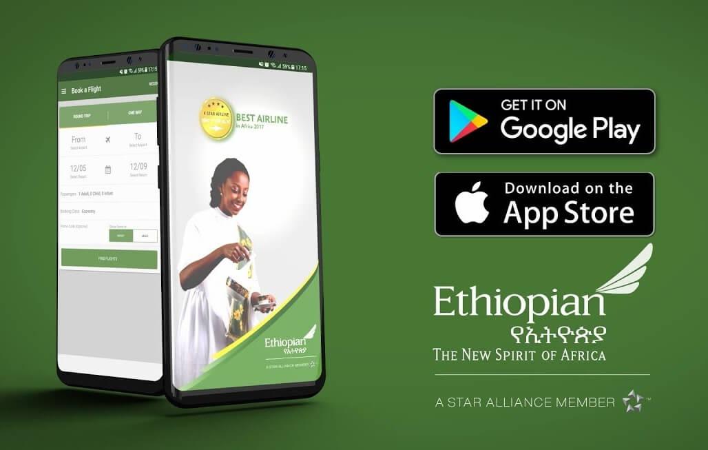 Sikat ang Ethiopian Mobile App sa mga flyer