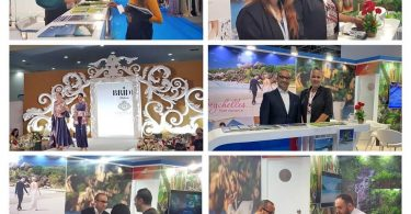 برق سیشل در نمایشگاه عروس در دبی برق می زند