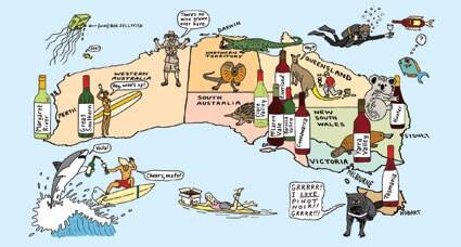 Lækre vine formet i Australien