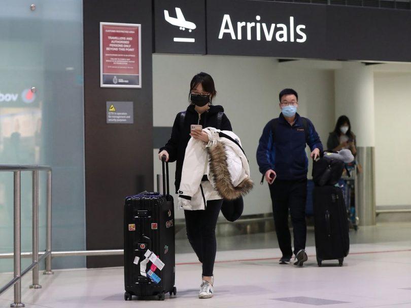COVID-19 sænkede flyrejser til Kina med 80 procent
