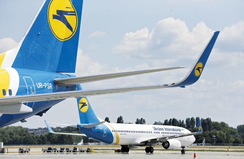Ukrainiaj Internaciaj Flugkompanioj suspendas ĉiujn planitajn flugojn