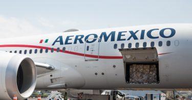 Aviones de pasajeros de Aeroméxico para carga: respuesta a la emergencia COVID-19