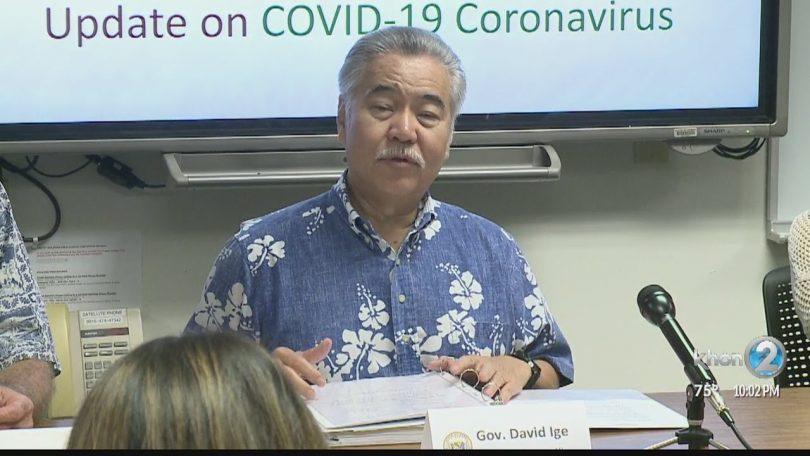 Upozorenje guvernera Havaja Ige Coronavirus: Izbjegavajte putovanja u državu Washington