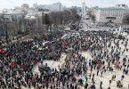 Masveida protesti Kijevā apdraud 3 miljonu pilsētu, kamēr metro tika apturēta