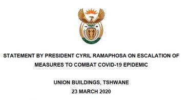 Transkript zaključana Južnoafrička Republika: Službena izjava predsjednika Cyrila Ramphose