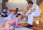 Larga vida al rey de Tailandia en Baviera con su harén de 20 hermosas damas tailandesas