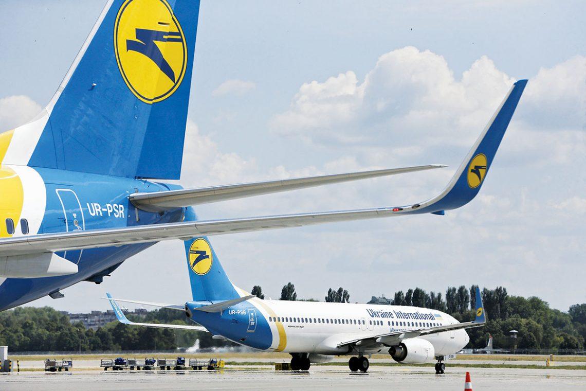 Penerbangan khusus Ukraina International Airlines kanggo nggawa warga asing mlebu omah