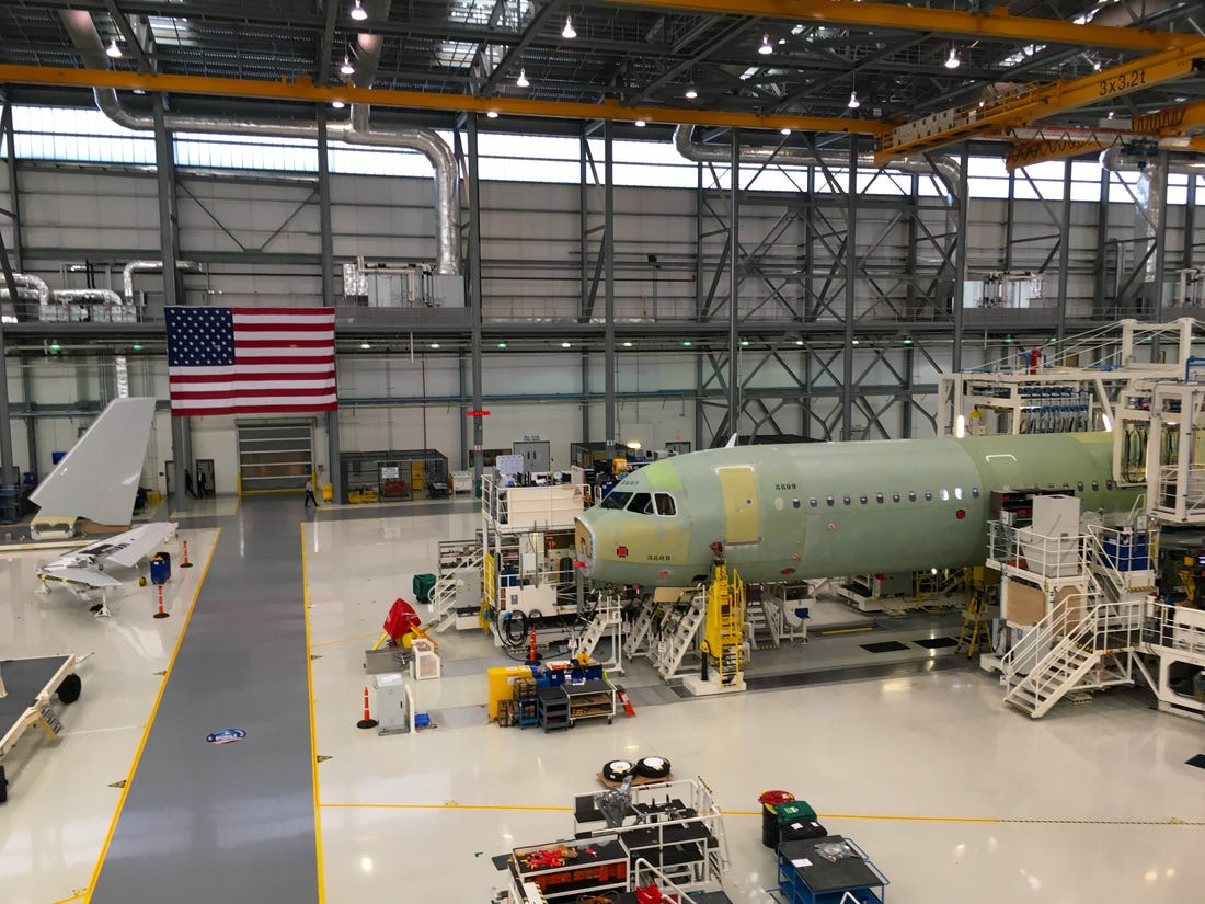 Airbus halts aircraft production in Northern Germany and Alabama