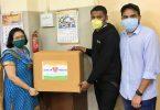 Compañía en línea dona 1 millón de mascarillas quirúrgicas a hospitales de India