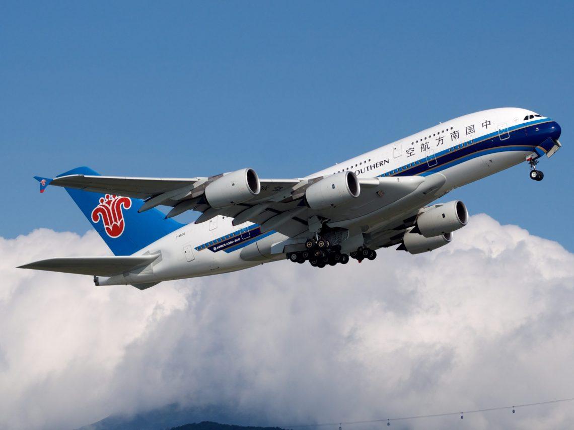 China Southern Airlines: tráfego de passageiros e carga se recuperou em abril