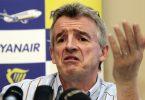 Ryanair's O'Leary: UK Äntwert op COVID-19 ass 'idiotesch'