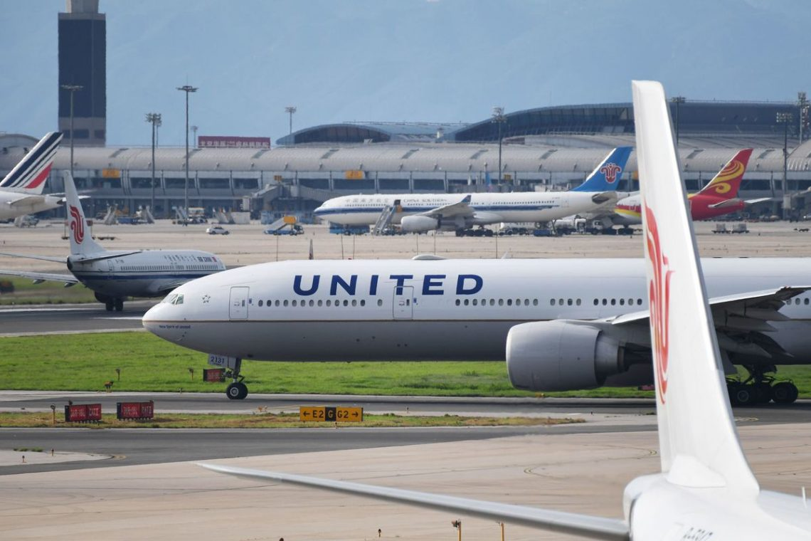 As companhias aéreas chinesas operam mais voos do que as americanas em maio