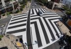 Honolulu installs new pedestrian scramble intersection markings in Waikīkī