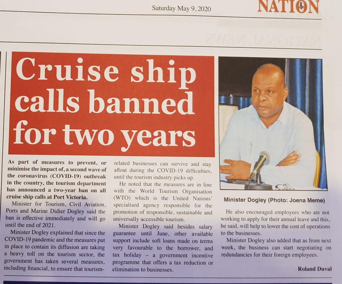 Cruise Ships waard twa jier ferbean om twadde COVID-19-útbraak te foarkommen