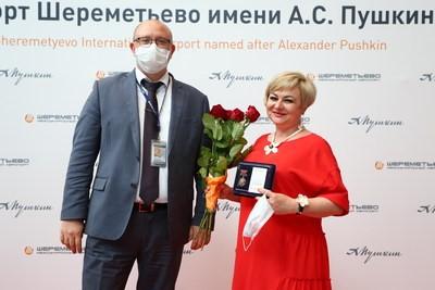 مطار موسكو شيريميتيفو الدولي يكرم الأطباء