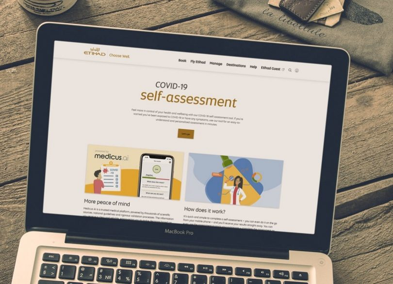 Etihad Airways launches COVID-19 risk self-assessment tool
