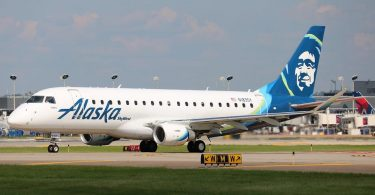 Alaska Airlines starts flying Embraer 175 on in-state routes