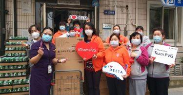 デルタ航空は世界中のコミュニティに1万ポンドの食料を寄付しています