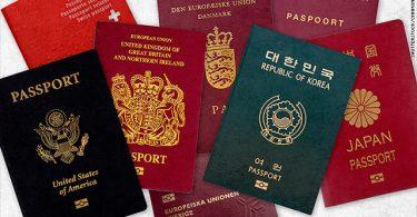 यूरोपीय पासपोर्ट दुनिया के सबसे शक्तिशाली पासपोर्ट की शीर्ष दस सूची में हावी हैं