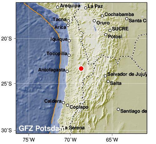 Silné 6.9 zemětřesení v Chile