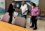 Наведвальнае бюро Гуама сустракаецца з новым генеральным консульствам Японіі Кабаясі