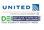 United Airlines ໄດ້ຕັ້ງຊື່ບໍລິສັດຊັ້ນ ນຳ ສຳ ລັບການລວມເອົາຄວາມພິການ