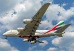 Mae jetiau superjumbo A380 Emirates yn dychwelyd i'r awyr
