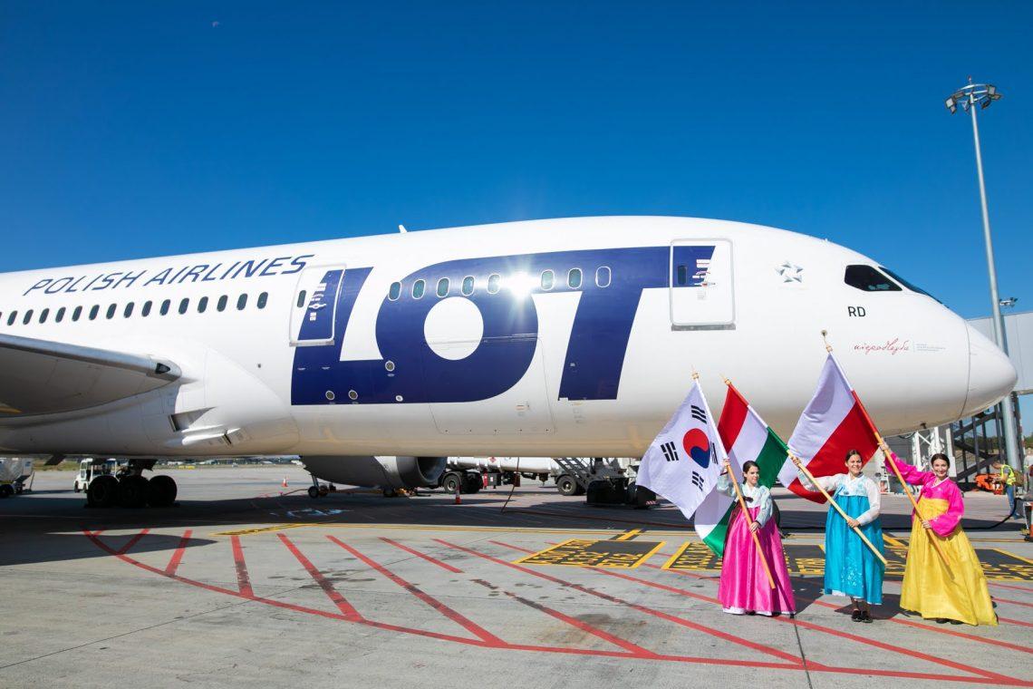 LOT Polish Airlines retoma o serviço de Seul do Aeroporto de Budapeste
