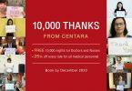 سینٹارا 10,000،XNUMX کمرے کی راتوں کو میڈیکل ہیروز کو عطیہ کرتا ہے