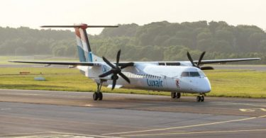 Luxair Luxembourg Airlines vola a l'aeroport de Budapest