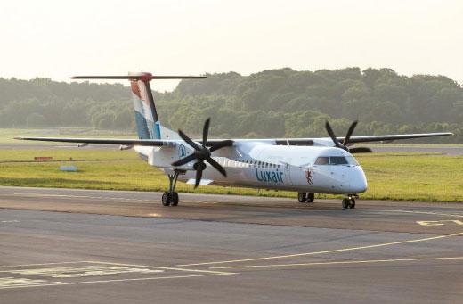 Luxair Luxembourg Airlines vuela al aeropuerto de Budapest