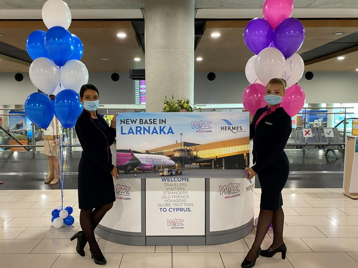 Společnost Wizz Air uvádí do provozu základnu na letišti v Larnakě