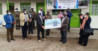 EUはウガンダ野生生物局にレンジャー宿泊施設を贈ります