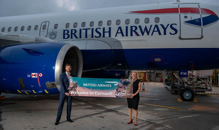 British Airways launches daily flight from London Heathrow to Cornwall Airport Newquay