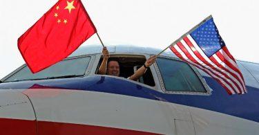 ایالات متحده و چین برای رهبری بازار هواپیمایی داخلی در سطح جهانی رقابت می کنند