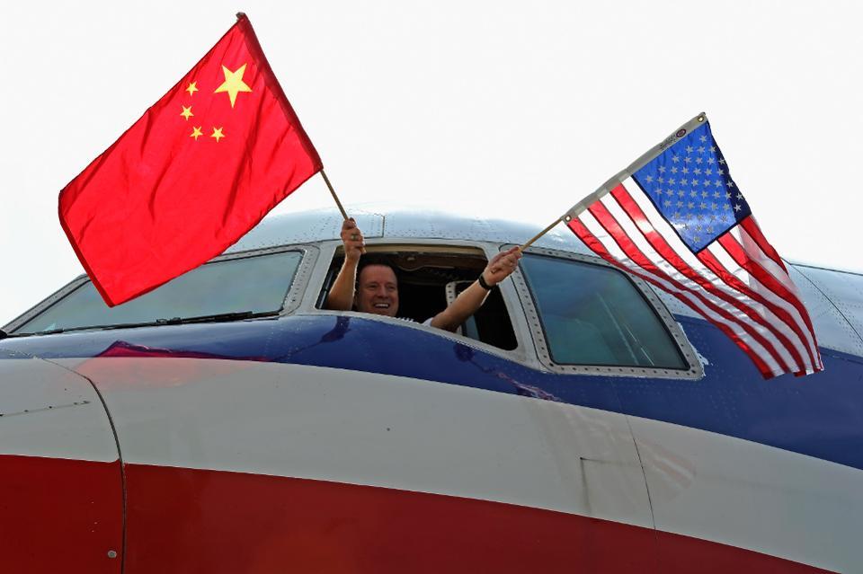 EUA e China competem para liderar o mercado doméstico de aviação global