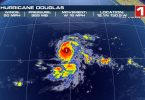 Hurricane Douglas on a path directly to Hawaii