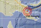 Gempa Massa gedhe tekan wilayah ing Port Moresby, Papua Nugini