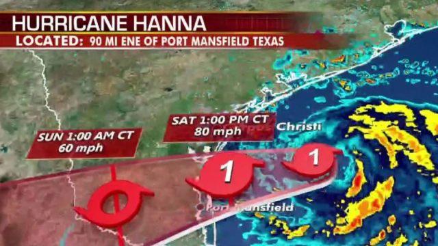 اولین طوفان ایالات متحده در جزیره پادره ، تگزاس فرود آمد
