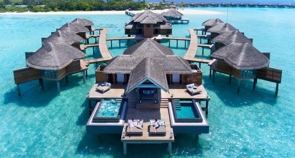 Hoe sit it mei karantêne yn in bungalow oer wetter yn 'e Maldiven?